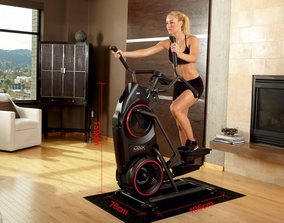 bowflex max trainer m5 reviews - size of bowflex max