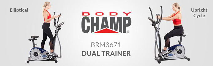 best elliptical under 300 - Body Champ Cardio Dual Trainer